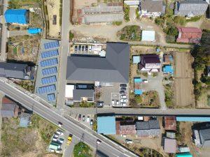 伊勢崎市有料老人ホーム楽久陽・ケアマンション国定上空から撮影